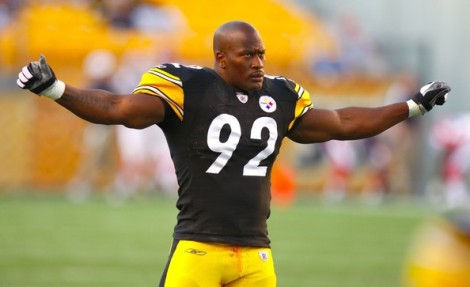 James Harrison, the newest Cincinnati Bengal.