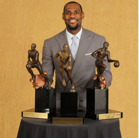 LeBron is expected to win his 4th MVP in five years.