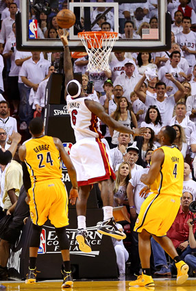 LeBron James buzzer beating layup wins Game 1 for the Heat.