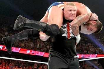 Brock Lesnar's F-5 to CM Punk wasn't the only surprise Monday night. - Picture courtesy of cagesideseats.com