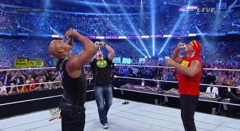 Epic Moment in Wrestlemania history.